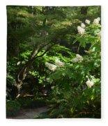 Hydrangea Path Fleece Blanket