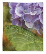 Hydrangea Portrait Fleece Blanket