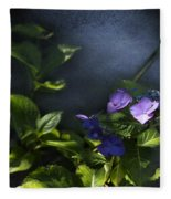 Hydrangea Violet-blue Fleece Blanket