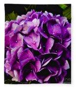 Hydrangea Fleece Blanket