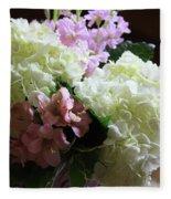 Hydrangeas Bouquet Fleece Blanket