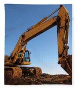 Hydraulic Excavator Fleece Blanket
