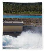 Hydro Power Station Dam Open Gate Spillway Water Fleece Blanket