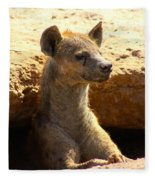 Hyena In Den Fleece Blanket