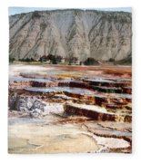 Hymen Terrace Yellowstone National Park Fleece Blanket