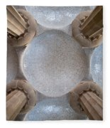 Hypostyle Room Ceiling In Park Guell Fleece Blanket