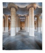 Hypostyle Room In Park Guell Fleece Blanket