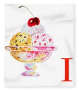 I Art Alphabet For Kids Room Fleece Blanket