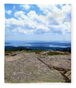 I Can See For Miles And Miles Fleece Blanket