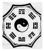 I Ching Kua Fleece Blanket