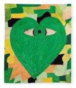 I Eye Love Green Fleece Blanket