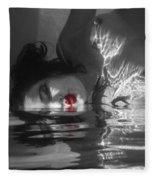 I Float On Red Fleece Blanket