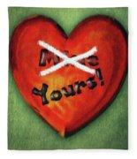 I Gave You My Heart Fleece Blanket