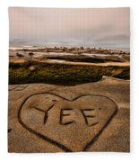 I Heart Yee Fleece Blanket