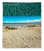 I Heart You Shores Of Lake Michigan Fleece Blanket