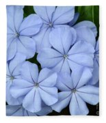I Love Blue Flowers Fleece Blanket