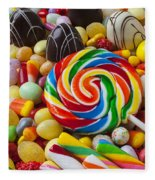 I Love Candy Fleece Blanket