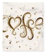 I Love Coffee Fleece Blanket