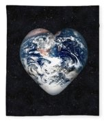 I Love Earth Fleece Blanket