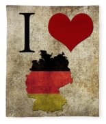 I Love Germany Fleece Blanket