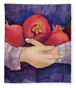 I Love Pomogranates Fleece Blanket