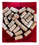 I Love Red Wine Fleece Blanket