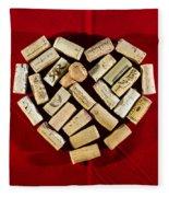 I Love Red Wine - Vertical Fleece Blanket