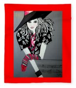 I Love Rock And Roll Fleece Blanket