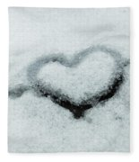 I Love The Winter Snow Fleece Blanket