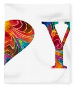 I Love You 17 - Heart Hearts Romantic Art Fleece Blanket