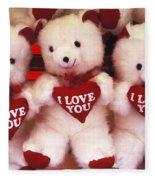 I Love You Bears Fleece Blanket
