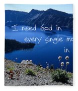 I Need God Fleece Blanket