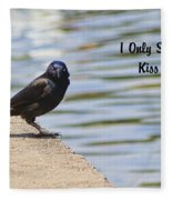 I Only Smile For Food - Kiss My Grits Fleece Blanket
