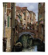 I Ponti A Venezia Fleece Blanket