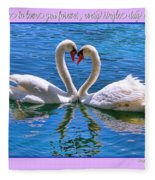 I Promise To Love You Poster By Diana Sainz Fleece Blanket