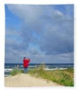 I See The Sea. Juodkrante. Lithuania Fleece Blanket