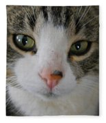 I See You Cat - Square Fleece Blanket