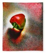I Vote For A Really Hot Sweet Pepper Fleece Blanket
