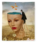 I Want To Look Inside Your Head Fleece Blanket