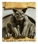 I Was Made To Rule Gargoyle Santa Cruz California Fleece Blanket