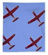 Iaf Flight Academy Aerobatics Team 4 Fleece Blanket