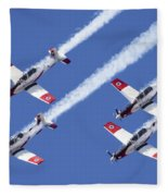 Iaf Flight Academy Aerobatics Team 6 Fleece Blanket