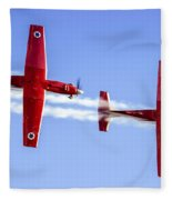 Iaf Flight Academy Aerobatics Team-a Fleece Blanket