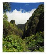 Iao Needle - Iao Valley Fleece Blanket