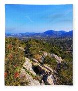 Ibiza Mountains Fleece Blanket