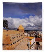 Ibiza Town Walls Fleece Blanket