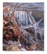 Ice Along The River Fleece Blanket
