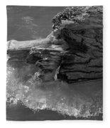 Ice Among The Floating Tree Fleece Blanket