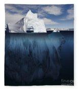 Ice Arch Iceberg Fleece Blanket