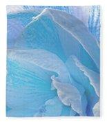 Ice Blue Amaryllis Abstract Fleece Blanket